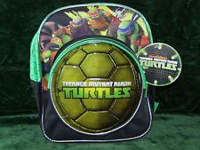Nickelodeon-Teenage-Mutant-Ninja-Turtles-Kids-Child-12-Backpack-Blk-Green-NEW