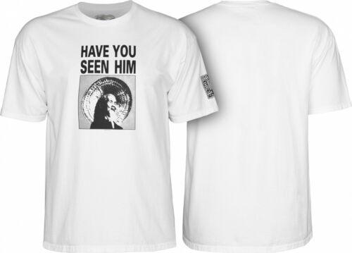 Powell Peralta ANIMAL CHIN Skateboard Shirt WHITE MEDIUM