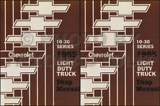 1985 Chevy Truck Shop Manual Pickup Van Blazer Suburban Chevrolet Service Books