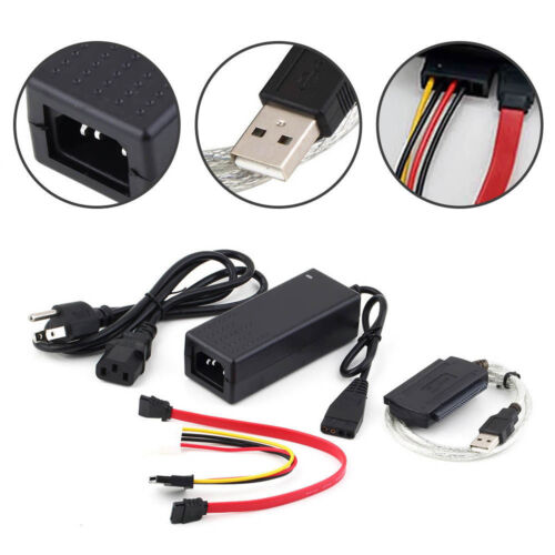 SATA//PATA//IDE to USB 2.0 Adapter Converter Cable for 2.5//3.5 Inch Hard Drive IN