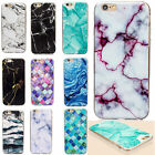 Thin Rubber Soft TPU Marble Pattern Back Case Cover For Apple iPhone 6 6s 7 Plus