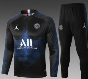 Détails sur Survêtement PSG Jordan Collection 20192020 SAPHIR Haut bleu noir pantalon noir