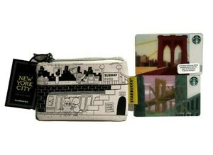 Starbucks-NYC-Coin-Purse-Zip-Pull-MTA-Subway-Big-Apple-Skyline-Pigeon-Gift-Bonus