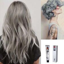 100ML Unisex Permanent Punk Hair Dye Light Gray Silver Color Cream Makeup Tool