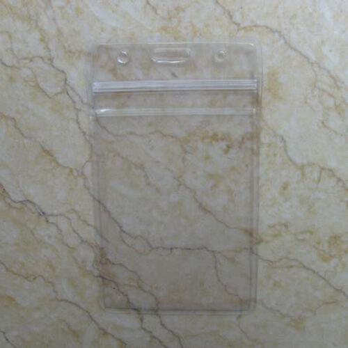 Lot 50 Vertical Business ID Card Badge Holder w// Zipper