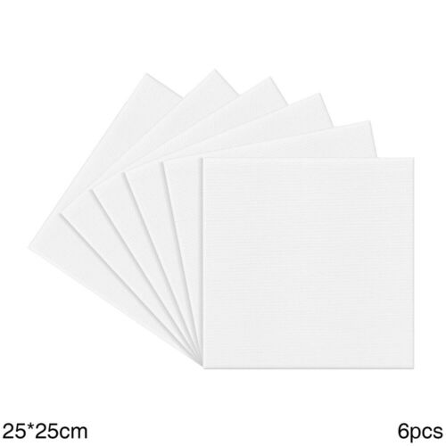 BLANK ARTIST CANVAS ART BOARD PLAIN PAINTING STRETCHED FRAMED WHITE MULTI PACK