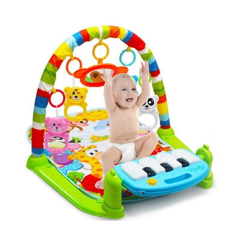 Bebé gimnasio mantita de piano de actividades gimnasio para gatear teclado piano