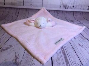 Blankets-amp-Beyond-Lamb-Sheep-Pink-W-White-Face-Baby-Security-Blanket-Nunu-GUC