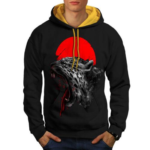 Panther Black cappuccio Sun uomo contrasto oro Red Felpa con cappuccio a 8BqXUw8xR