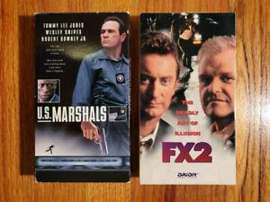 Lot2-US-Marshals-1998-FX2-1991-VHS-RARE-ORIGINAL-HTF-OOP-Action-Thriller