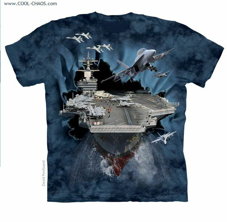 US Aircraft Carrier T-Shirt Tie Dye Adult T-Shirt,New,Patriotic,Military,Men's