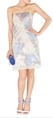 Floral Silk Overlay 100 Millen Designer used Karen Dress Size 8 Once IqHWwPF