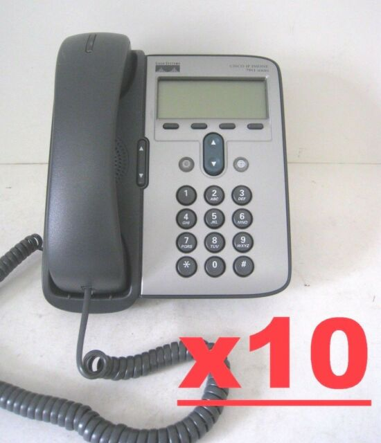 LOT OF 10 Cisco Unified IP Phone Model 7911G Business