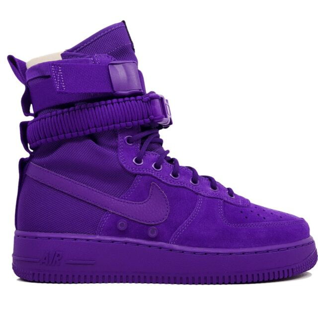 NIKE SF AF1 Special Air Force 1 One High Boot Court Purple 864024-500 size 9