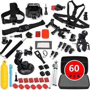 60-pcs-Accessories-Set-Kit-for-GoPro-Hero-2-3-3-4-5-SJCAM-Head-Chest-Strap-Pole