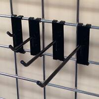 100 Assorted Gridwall Metal Hook Bundle - 1, 4, 6, 8 - 25 Each - Black