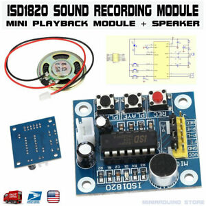 ISD1820-Voice-Recording-Playback-Module-Sound-Recorder-Board-With-Loudspeaker