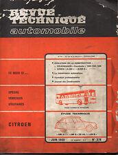 RTA revue technique automobile n° 278 CITROEN AMI 6 8 AK-B