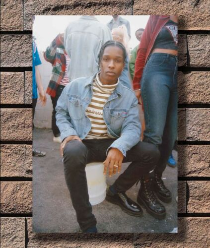 KX456 New ASAP ROCKY Rap Hip Hop Music Star Print 20x30 24x36 40in Silk Poster
