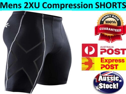 Mens Compression Short Sport Pants Base Layer Skin Tights Running Workout Gym AU