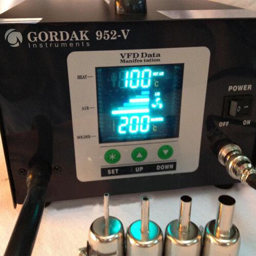 Soldering Iron Rework Station Gordak 952V 110V 2-in-1 Hot Air station Hot Iron