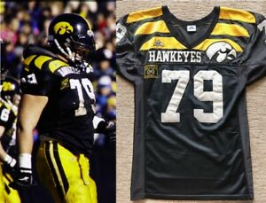 100% authentic 67fef b7291 Details about WOW! 1995 Iowa Hawkeyes Banana Peel Wing Tipped Football  Jersey #79 - Mike Goff!