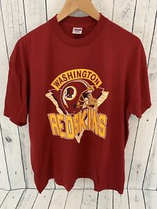 b12a5013 Details about VTG NFL WASHINGTON REDSKINS TRENCH 50/50 MADE IN USA T SHIRT  SIZE XL TRIANGLE E3