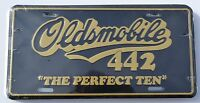 Oldsmobile 442 Cutlass Front Or Rear Chrome Bumper License Plate Embossed Metal