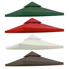 10'x10' Gazebo Canopy Top Replacement 2 Tier Patio UV30 Pavilion Cover Sunshade