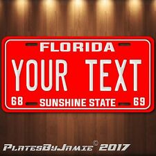 Florida 1968 1969 Personalized Aluminum  Car Auto  Truck License Plate Tag