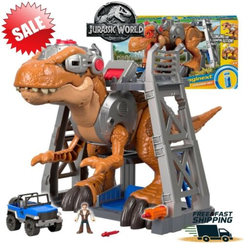 Jurassic World T-Rex Tyrannosaurus Rex Big Dinosaur Play Set Kids Toy Imaginext