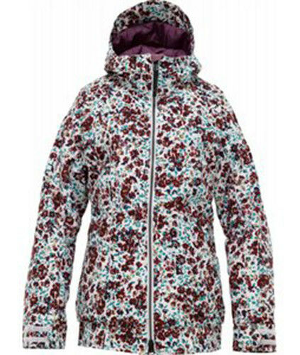Burton Femme Twc Hot Totcravate Veste Snowboard (S) Blanc Brillant Floral Fendu