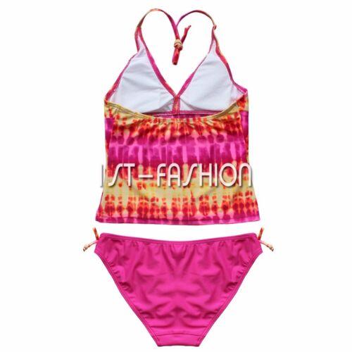 Princess Girls Kids Two Piece Swimwear Bikini Tankini Swimsuit Swimming Costume