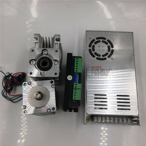Power Stepper Motor Drive Kit NEMA23 1.8NM 3A Worm Gear Reducer /&Driver MB450A