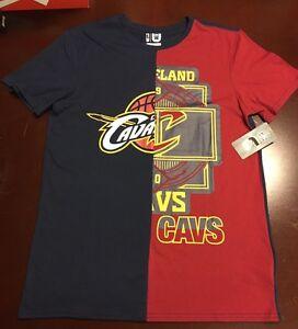 sports shoes d8dbd bcd79 Details about Cleveland Cavaliers Half-And-Half T-Shirt XXLARGE Lebron James