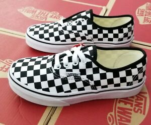 Image is loading VANS-AUTHENTIC-KID-039-S-CHECKERBOARD-BLACK-TRUE- 21b7dc3e7
