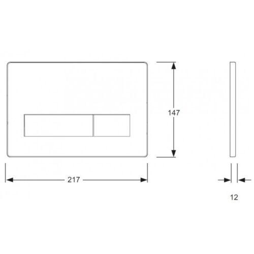 MEPA ORBIT MEPAorbit 2-Mengen Betätigungsplatte Drückerplatte verschied.Farben