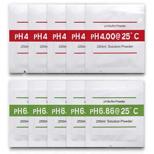 pH-Kalibrierloesung-10-Stueck-4-00-und-6-86-Pufferloesung-pH-Kalibrierpulver