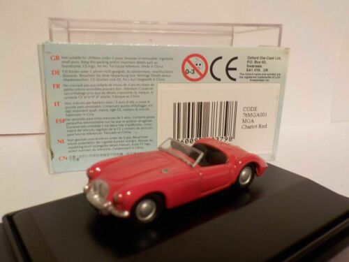 Oxford Diecast 1//76 New Dublo Railway Scale RED MGA