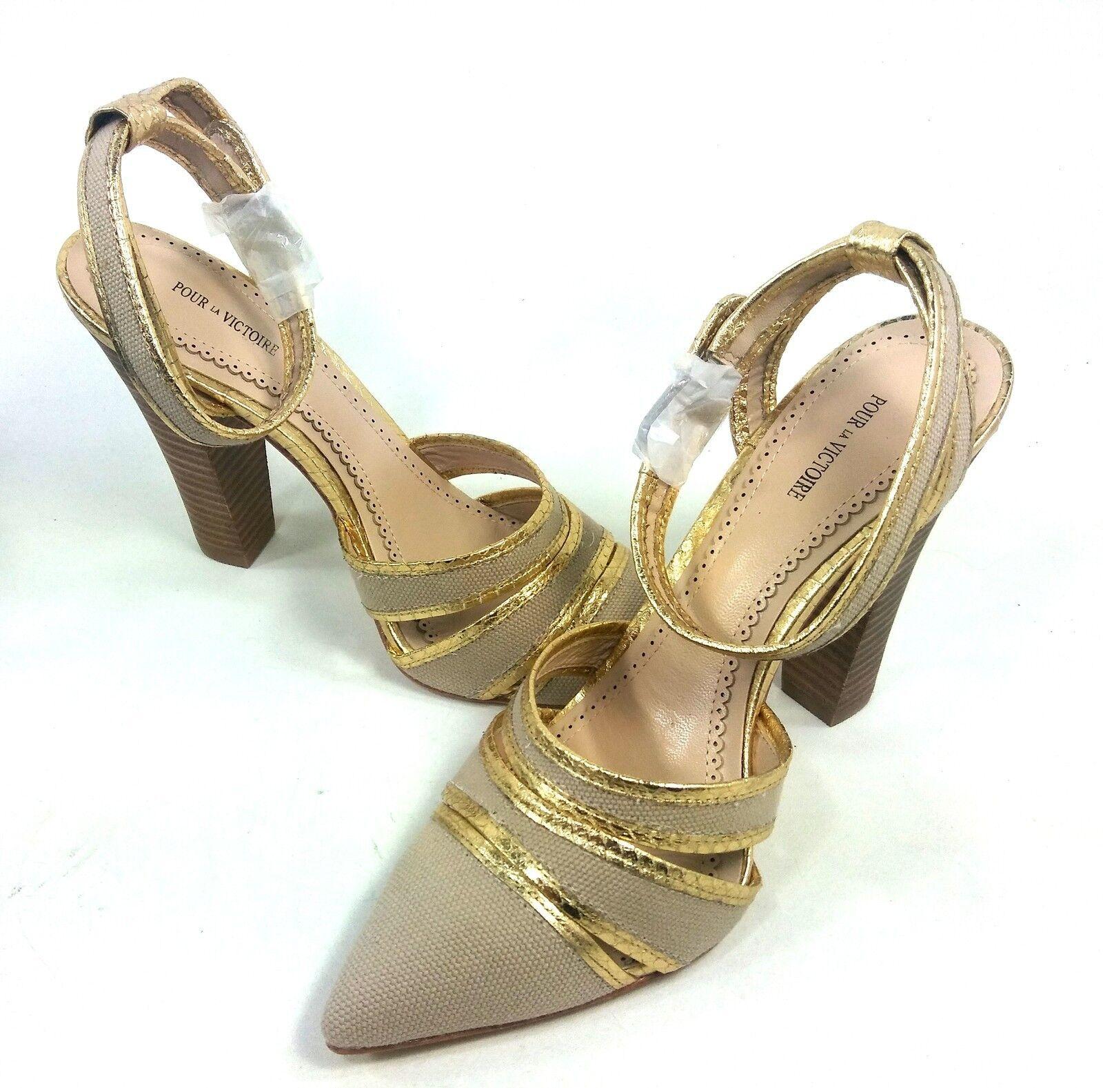 Pour La Victoire, Kiran 2 Bomba, mujeres, oro, Cuero, US US US tamaño 9 M, Euro 39, nuevo  barato y de moda