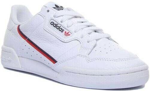 Adidas Continental 80 B Grad Herren Stil Turnschuhe Weiß UK Größe 6 12