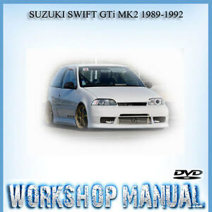 suzuki swift gti mk2 1989 1992 workshop service repair manual in rh ebay com au 1992 Suzuki Samurai 2000 Suzuki Swift