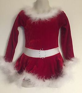 Christmas Ice Skating Dress.Details About Figure Skating Dress Girls 4 Christmas New Holiday Red Ice Skate Runs Small