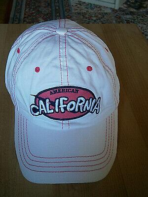 Ausdrucksvoll Usa Kalifornien Unisex Baseball Cap Mütze Kappe Weiß - Rot Ausgezeichnete (In) QualitäT