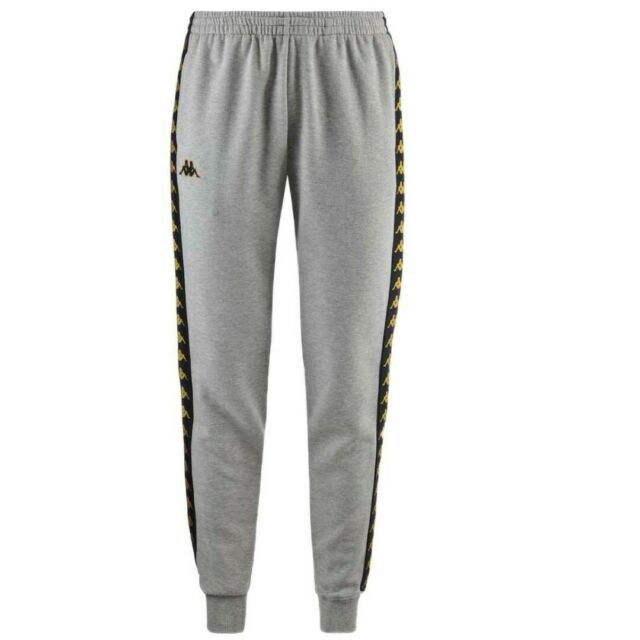 KAPPA MEN/'S BANDA RASTORIA SLIM FITTED TRACK PANTS IN WHITE BLACK //// BNWT ////
