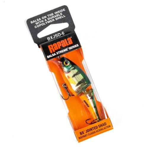 "RAPALA BX Jointed Shad BXJSD-6 Balsa Xtreme Jointed Lip Crankbait Lure 2.5/"" PICK"