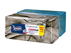 Tempo Taschentücher 4-lagig -  Duo-Box - 2x 80 Tücher (160 Stück) Kosmetiktücher
