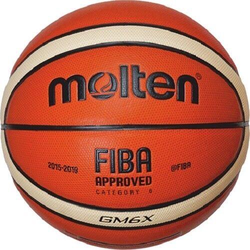 Molten Indoor Outdoor Basketball GM6X Fiba Synthetic Leather BGM6X