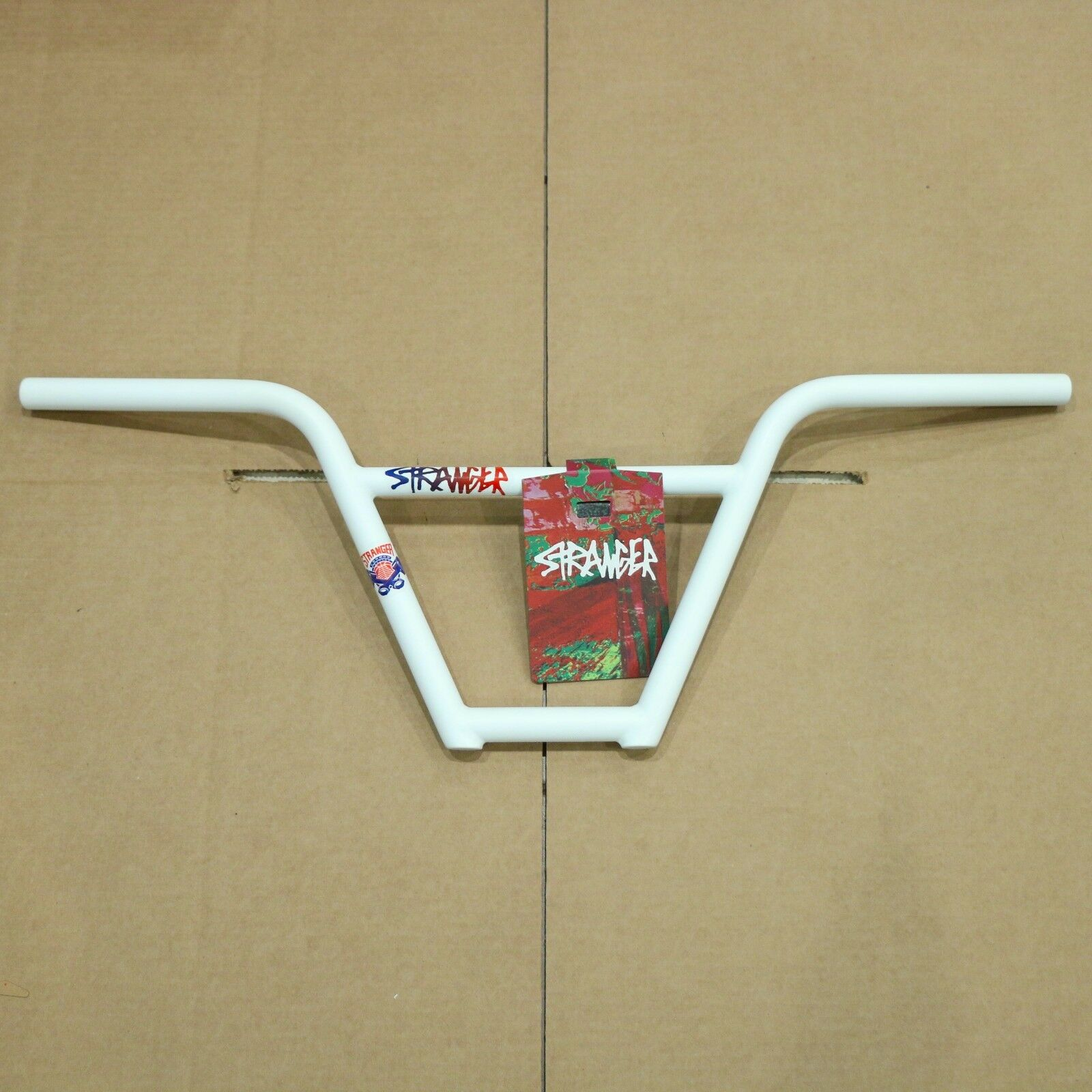STRANGER PISTON 4pc BAR WHITE 9.25  Rise BMX BIKE HANDLEBARS CONNOR KEATING