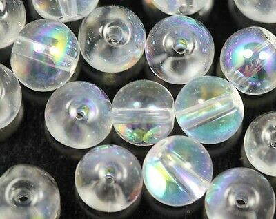 Wholesale 100pcs beautiful  transparent color AB glass round spacer beads~6mm